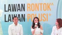 Brand Ambassador Pantene Raline Shah pada acara Pantene #kuatlawanpolusi di The Space, Senayan City. (Foto: IST)