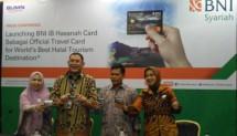 BNI Syariah Luncurkan BNI Syariah iB Hasanah Card Wisata Halal Lombok,Jumat (22/9/2017)
