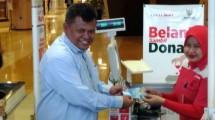 Donasi Baznas di Kasir Lotte Mart. (Foto: IST)