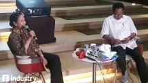 Menteri BUMN Rini Soemarno pada acara bincang santai (Hariyanto/INDUSTRY.co.id)