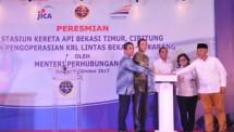 Menhub Budi Resmikan KRL Lintas Bekasi-Cikarang dan Stasiun Bekasi Timur (Foto Humas