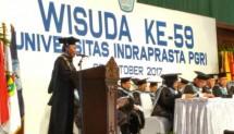 Universitas Indraprasta (Unindra) PGRI kembali menggelar wisuda bagi mahasiswa/mahasiswi tahun akademik 2016/2017 di Sasono Utomo Taman Mini Indonesia Indah, Jakarta Timur, Rabu (25/10/2017).