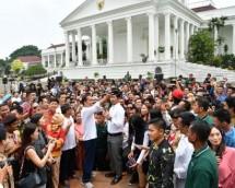Presiden Jokowi dalam rangkaian acara peringatan Hari Sumpah Pemuda. (Foto Biro Set Pres)