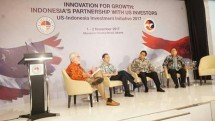 Menteri Airlangga saat acara US-Indonesia Investment Summit 2017