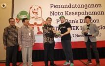 Bank DKI dan Gojek menjalin kerja sama sistem pembayaran non tunai di Jakarta (7/11/2017). (Foto Rizki Meirino)