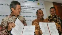 Penandatanganan Surat Jual Beli Tenaga Listrik (SJBTL) antara PLN dan PT Wilmar Nabati Indonesia (WINA)