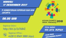 Forwakop Gelar SME 5K RUN 2017 Berhadiah Ratusan Juta