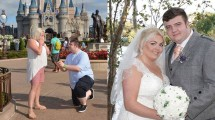 Nicole Tully dan Kekasihnya, Bryan Stewart, Melangsungkan Pertunangan Sekaligus Pernikahan di Disney World di Flordia (Foto: Sunday Mail)