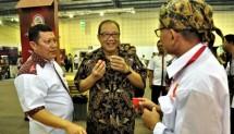 Puspayoga saat membuka pameran UMKM bertajuk MSP Expo 2017 The Authentic Taste of Indonesia, di Balai Kartini, Jakarta