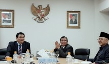 Dubes Indonesia untuk Korsel, Umar Hadi bersama Delegasi PWI (dok INDUSTRY.co.id)