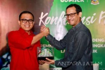 CEO Gojek Nadiem Makarim dan Bupati Banyuwangi Abdullah Azwar Anas