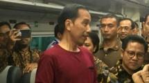 President Joko Widodo saat Meresmikan Kereta Api Bandara Soetta (ist)