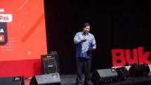 Menteri Perindustrian, Airlangga Hartarto saat menghadiri syukuran ulang tahun ke-8 Bukalapak (Foto: Dok. Industry.co.id)