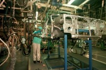 Ilustrasi pekerja pabrik manufaktur