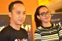 Valis Akbar dan Melvionita, Produser dan pemain film Arumi (Foto Amz)