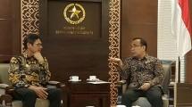 Gubernur Irwan Prayitno dan Sejumlah Staf serta Ketua Persatuan Wartawan Indonesia (PWI) Pusat Margiono dan Panitia HPN Pusat, Mensesneg Pratikno (IST)