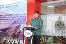 Menteri Perindustrian, Airlangga Hartarto saat meresmikan Bandung Techno Park (Foto: Humas)