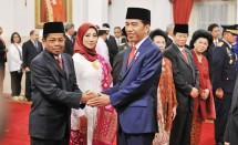 Presiden Jokowi dan Mensos Idrus Marham (Foto Setkab)
