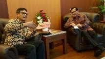 Ketua PWI Pusat Margiono beserta Panitia Pusat HPN 2018 melakukan pertemuan dengan Menteri Sekretaris Kabinet, Pramono Anung
