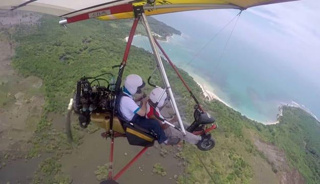 Terbang diatas Tanjung Lesung