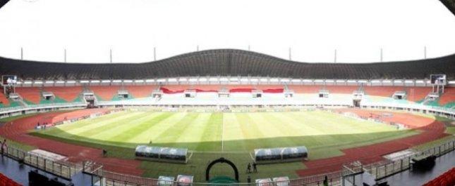 Stadion Pakansari Cibinong Kabupaten Bogor Jawa Barat.