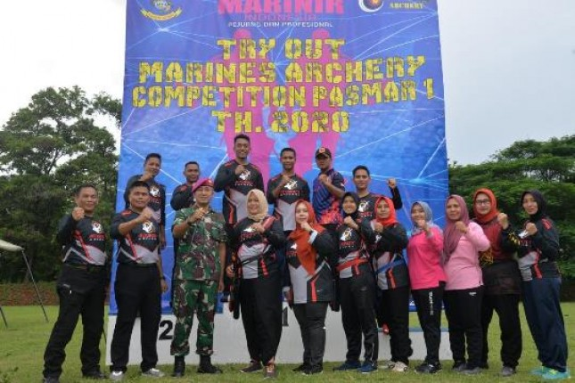 Danpasmar 1 Resmi Tutup Try Out Marines Archery Campetition