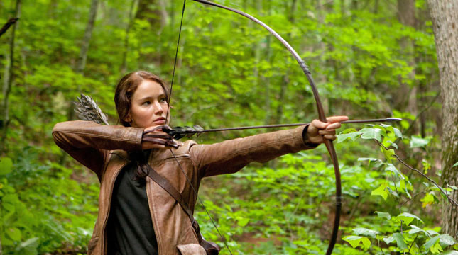 Aktris Jennifer Lawrence dalam Film Hunger Games (Foto:nytimes.com)