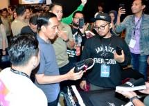 Presiden Jokowi Sepatu Snaker Lokal Mampu Bersaing di Pasar Global (Foto Setkab)