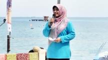 Hj. Irna Narulita Bupati Pandeglang di Tanjung Lesung- Foto- Industry.co.id