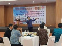 Kasubdit Angkutan Laut Dalam Negeri Kemenhub, Capt. Budi Mantoro, dalam FGD Akselerasi Pembangunan Industri Kapal di Sulsel, yang digelar di Graha BKI Jakarta, Rabu (6/3).