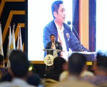 Ketua Umum terpilih BPP HIPMI 2019-2022, Mardani H. Maming saat berada di Munas HIPMI XVI di hotel sultan Jakarta
