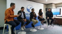 Public Relations Lead DreamHub Trevi Pradipta, Chief Marketing Officer DreamHub Duan Aditya Akelyaman, dan Chief Operating Officer DreamHub Daniel Derandie
