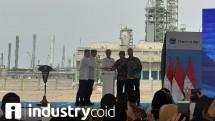 Presiden Joko Widodo saat meresmikan pabrik baru polyethylene PT Chandra Asri Petrochemical (Foto: Ridwan/Industry.co.id)