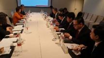 Menteri Perindustrian Agus Gumiwang Kartasasmita melakukan pertemuan dengan sejumlah investorTaiwan.