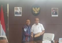 Pengurus Pusat PWI dan Panitia Pusat HPN 2020, melakukan pertemuan dengan Muhajir Effendy, Menteri Koordinator Bidang Pembangunan Manusia dan Kebudayaan pada Kabinet Indonesia Maju di kantornya jalan Merdeka Utara, Selasa (21/1/2020).