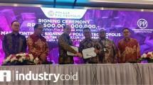 Penandatanganan kontrak kerjasama PT Pollux Lito Karawang dengan PT PP (Persero) Tbk untuk pengembangan Pollux Technopolis di Karawang (Foto: Ridwan/Industry.co.id)