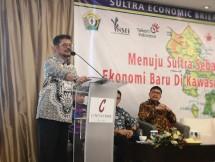Menteri Pertanian Syahrul Yasin Limpo sedang jadi pembicara di Sulawesi Utara