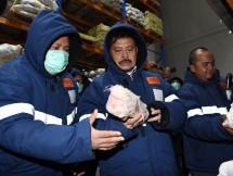 Menteri Pertanian Syahrul Yasin Limpo memastikan pasokan daging ke masyarakat cukup