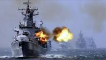 Latihan Militer Kapal Perang AS (ist)