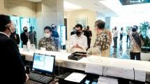 Menparekraf Wishnutama Kusubandio saat meninjau kesiapan hotel di Jakarta