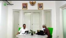 """Komisioner BP Tapera Adi Setianto dalam diskusi virtual """"Bonus Demografi dan Tantangan Pembiayaan Perumahan"""" di Jakarta, Senin (19/10/2020)."""