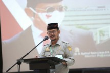 Menteri Pertanian Syahrul Yasin Limpo saat memberikan arahan ke jajarannya