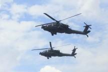 Tembakan Udara Helikopter Apache Belah Langit Martapura