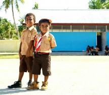 Siswa Sekolah di Papua (foto Nadiem Makarim)