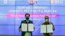 Jababeka Residence tandatangani kerja sama dengan Bank BNI