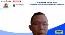 Edy dalam webinar Klub Jurnalis Ekonomi Jakarta yang membahas digitalisasi UMKM, Senin (10/5).