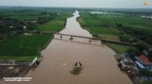 Kondisi jembatan gantung di Jepara