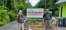 Pulau Salat dijadikan areal konservasi Orangutan oleh manajemen PT Sawit Sumbermas Sarana Tbk (SSMS). Ini adalah salah satu langkah untuk mengusung kemitraan yang sesuai dengan mekanisme Remediation & Compensation Program (RaCP) Roundtable on Sustanable Palm Oil (RSPO). (Foto: Humas PT Sawit Sumbermas Sarana Tbk)